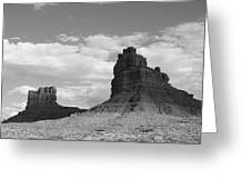 Valley Of The Gods Shadows Greeting Card