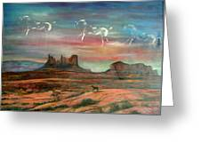 Valley Of The Horses Greeting Card