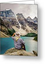 Valley Of The Ten Peaks Greeting Card by Rod Sterling