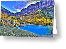 Valley Peak And Falls Greeting Card
