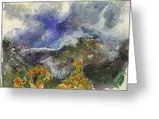 Valley Storm Clouds Greeting Card