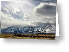 Valley Storm Greeting Card