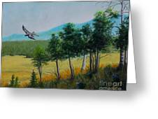 Valley View From Up The Hill Greeting Card