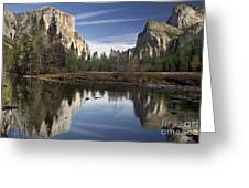 Valley View Reflection Greeting Card