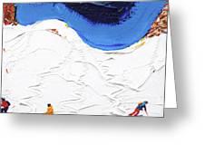 North Face Valluga Greeting Card