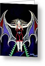 Vampire Lady Of Death Greeting Card