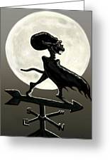 Vampire Moon Greeting Card