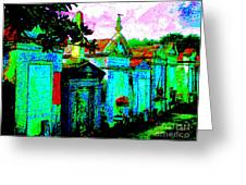 Vampire Tombs New Orleans Greeting Card