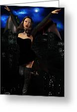 Vampiress In The Metropolis Greeting Card