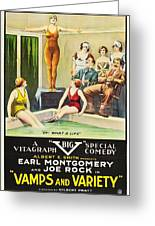 Vamps And Variety 1919 Greeting Card