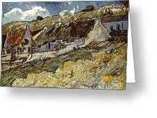 Van Gogh: Cottages, 1890 Greeting Card