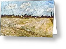 Van Gogh: Fields, 1888 Greeting Card