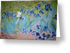 Van Gogh Iris By Alanna Greeting Card by Alanna Hug-McAnnally