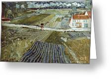 Van Gogh: Landscape, C1888 Greeting Card