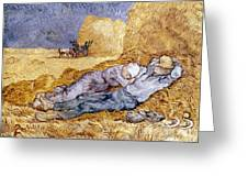 Van Gogh: Noon Nap, 1889-90 Greeting Card