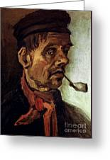 Van Gogh: Peasant, 1884 Greeting Card