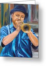 Van Gogh Plays The Trumpet Greeting Card