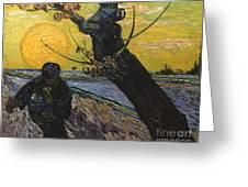 Van Gogh: Sower, 1888 Greeting Card