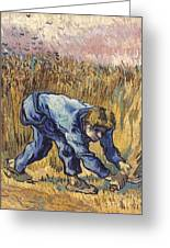 Van Gogh: The Reaper, 1889 Greeting Card