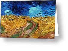 Van Gogh: Wheatfield, 1890 Greeting Card