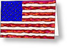 Van Gogh.s Starry American Flag Greeting Card