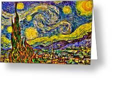 Van Gogh's 'starry Night' - Hdr Greeting Card