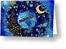 Van Gogh's Starry Night Wreath Greeting Card
