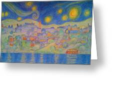 Van Goghville Greeting Card