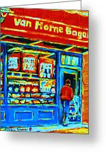 Van Horne Bagel Greeting Card