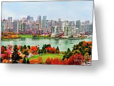 Vancouver After The Rain Greeting Card