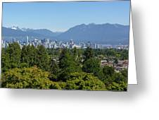 Vancouver Bc City Skyline From Queen Elizabeth Park Greeting Card