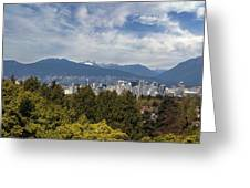 Vancouver Bc Skyline Daytime View Greeting Card