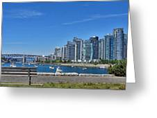 Vancouver Bench Greeting Card