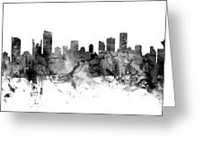 Vancouver Canada Skyline Panoramic Greeting Card