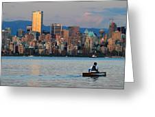 Vancouver Canoe Greeting Card