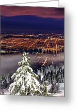 Vancouver City View Greeting Card