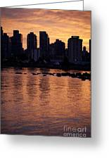 Vancouver From Stanley Park I Greeting Card
