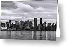 Vancouver In Black And White. Greeting Card