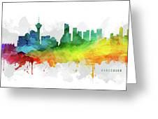 Vancouver Skyline Mmr-cabcva05 Greeting Card