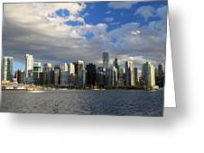Vancouver Sunset From Stanley Park Greeting Card