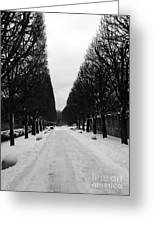 Vanishing Point Greeting Card by David Bearden