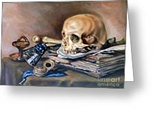 Vanitas After Pieter Claesz Greeting Card