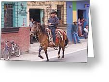 Vaquero En Pastores Greeting Card