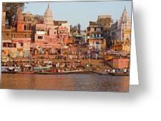 Varanasi From Ganges River Greeting Card