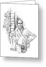 Varanasi Woman Greeting Card