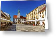 Varazdin Main Square, Croatia Greeting Card