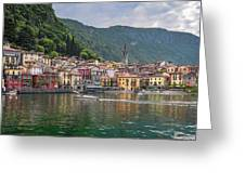 Varenna Italy Old Town Waterfront Greeting Card