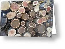 Various Firewood In The Round Greeting Card