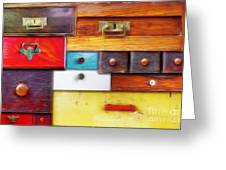 Various Old Drawers - In Utter Secrecy Greeting Card