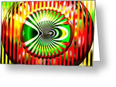 Vasarely Universe Greeting Card